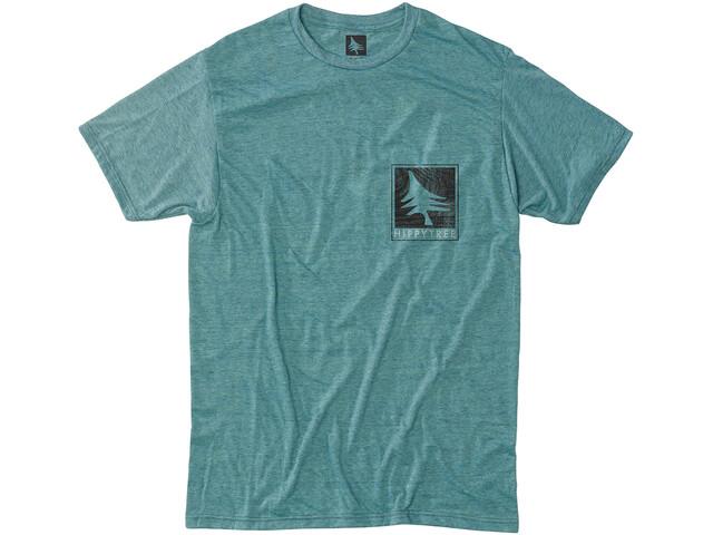 Hippy Tree Woodgrain T-Shirt Men, heather teal